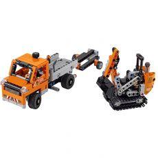لگو 2x1 مدل کامیون و بیل مکانیکی سری تکنیک (42060), image 2