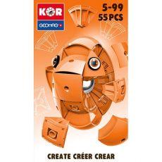بازی مغناطیسی 55 قطعهای جیومگ مدل KOR Orange, image 1