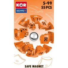 بازی مغناطیسی 55 قطعهای جیومگ مدل KOR Orange, image 2