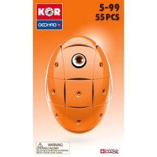 بازی مغناطیسی 55 قطعهای جیومگ مدل KOR Orange, image 3