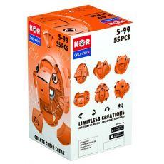 بازی مغناطیسی 55 قطعهای جیومگ مدل KOR Orange, image 4