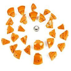 بازی مغناطیسی 55 قطعهای جیومگ مدل KOR Orange, image 5