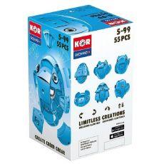بازی مغناطیسی 55 قطعهای جیومگ مدل KOR Blue, image 1