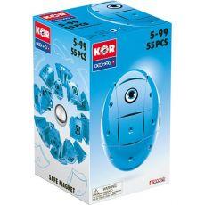 بازی مغناطیسی 55 قطعهای جیومگ مدل KOR Blue, image 2