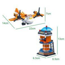 بلاک ساختنی بن بائو مدل هلیکوپتر و برج مراقبت, image 5
