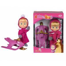 ست عروسک ماشا به همراه سورتمه, image 1