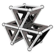 بازی مغناطیسی 68 قطعهای جیومگ مدل Black and White, image 3
