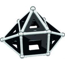 بازی مغناطیسی 68 قطعهای جیومگ مدل Black and White, image 13