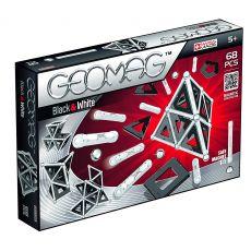 بازی مغناطیسی 68 قطعهای جیومگ مدل Black and White, image 1